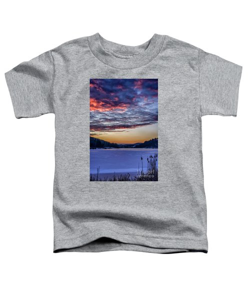 December Dawn On The Lake Toddler T-Shirt