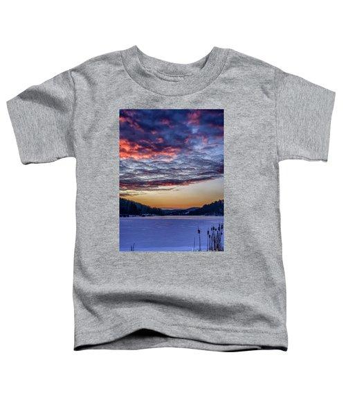December Dawn On The Lake Toddler T-Shirt