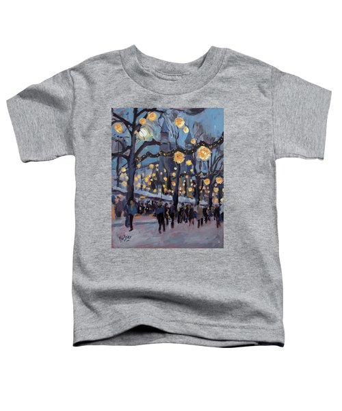 December Lights At The Our Lady Square Maastricht 1 Toddler T-Shirt by Nop Briex