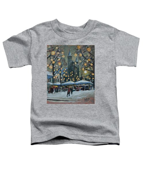 December Lights At The Our Lady Square Maastricht 2 Toddler T-Shirt by Nop Briex