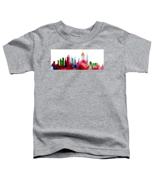 Decorative Skyline Abstract New York P1015c Toddler T-Shirt