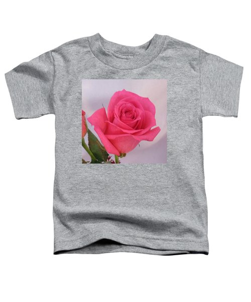 Single Deep Pink Rose Toddler T-Shirt
