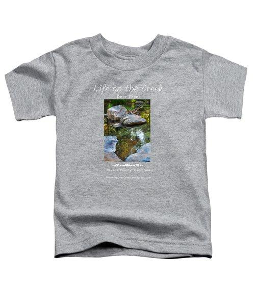 Deer Creek Point - White Text Toddler T-Shirt