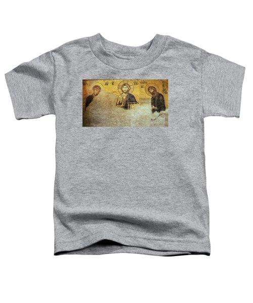 Deesis Mosaic Hagia Sophia-christ Pantocrator-judgement Day Toddler T-Shirt
