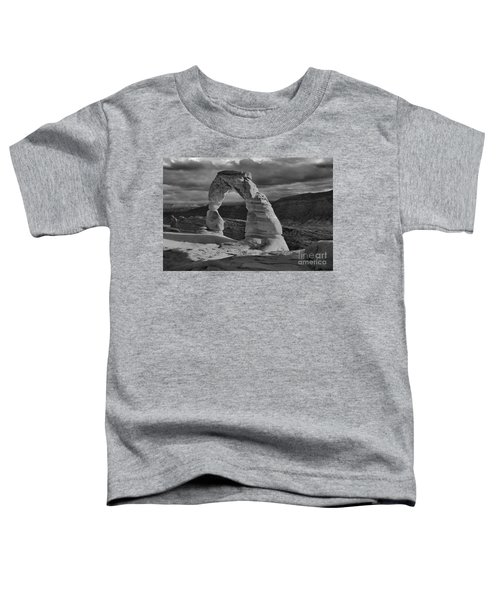 Delicate Arch Black And White Sunset Shadow Toddler T-Shirt