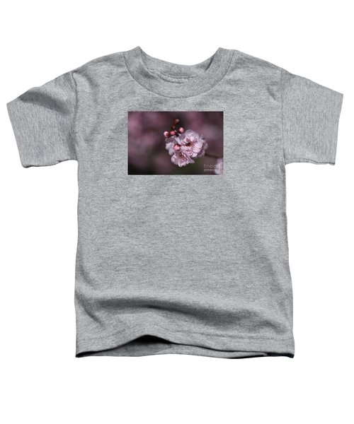 Delightful Pink Prunus Flowers Toddler T-Shirt