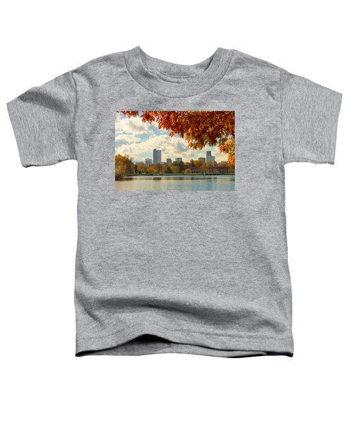 Denver Skyline Fall Foliage View Toddler T-Shirt