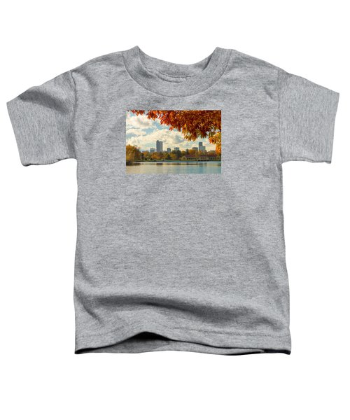 Denver Skyline Fall Foliage View Toddler T-Shirt