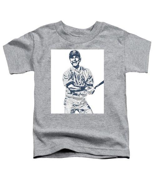 Derek Jeter New York Yankees Pixel Art 13 Toddler T-Shirt