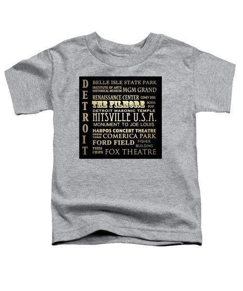 Detroit Michigan Famous Landmarks Toddler T-Shirt