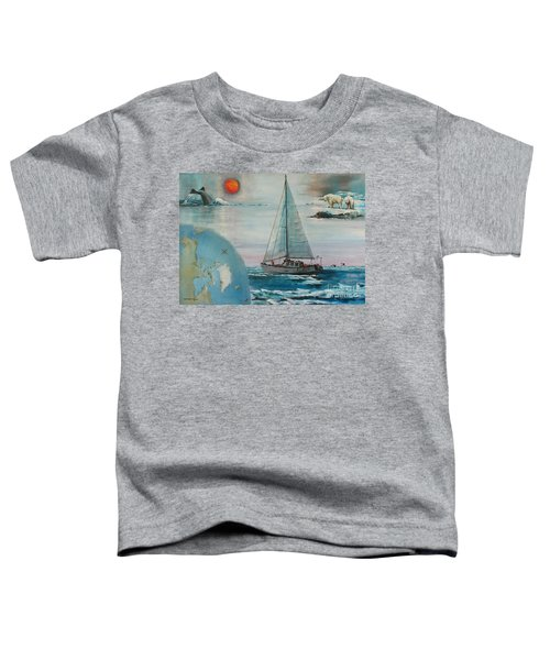 Ireland Canada Links..'' Northabout '' Rounding The North West Passage Toddler T-Shirt