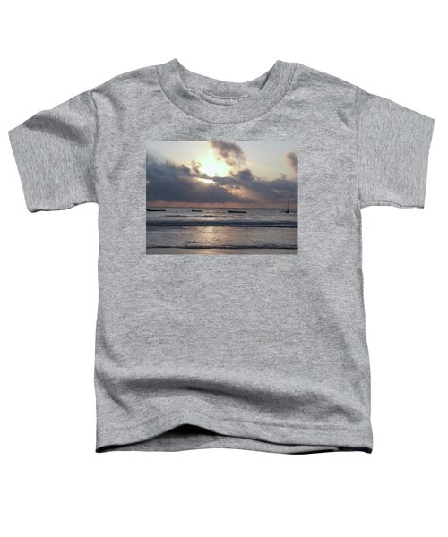 Dhow Wooden Boats At Sunrise 1 Toddler T-Shirt