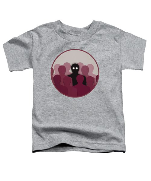 Different And Alone In Crowd Toddler T-Shirt