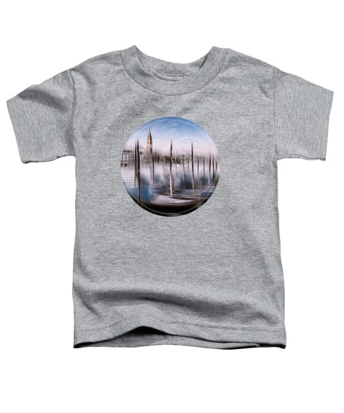 Digital-art Venice Grand Canal And St Mark's Campanile Toddler T-Shirt by Melanie Viola