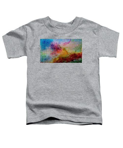 1a Abstract Expressionism Digital Painting Toddler T-Shirt