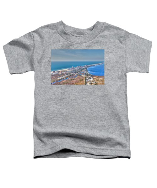 Distant Aerial View Of Gulf Shores Toddler T-Shirt