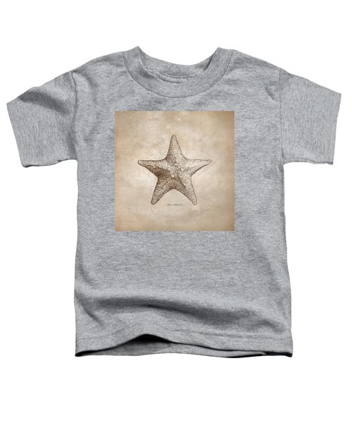 Distressed Antique Nautical Starfish Toddler T-Shirt