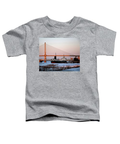 Docked Under The Glass City Skyway  Toddler T-Shirt