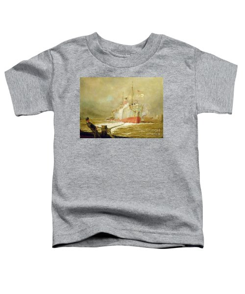 Docking A Cargo Ship Toddler T-Shirt