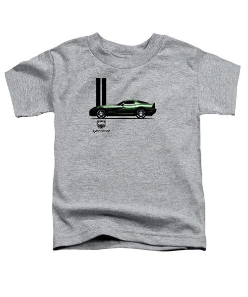 Dodge Viper Snake Green Toddler T-Shirt by Mark Rogan