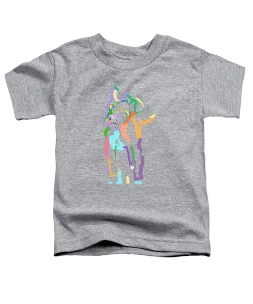 Toddler T-Shirt featuring the painting Dog Cookie by Go Van Kampen