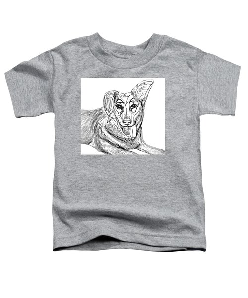 Dog Sketch In Charcoal 1 Toddler T-Shirt