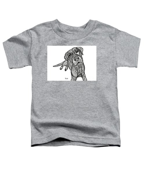 Dog Sketch In Charcoal 10 Toddler T-Shirt