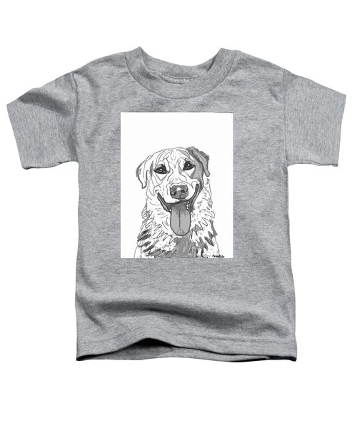 Dog Sketch In Charcoal 2 Toddler T-Shirt