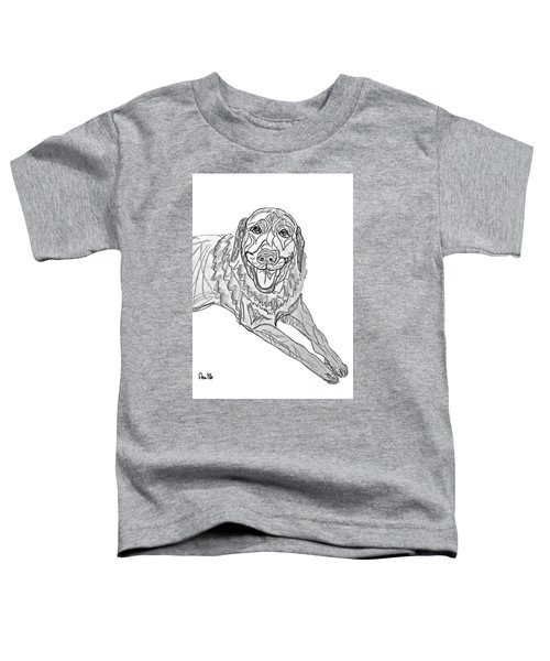 Dog Sketch In Charcoal 9 Toddler T-Shirt