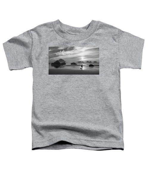 Dog Walker Bw Toddler T-Shirt