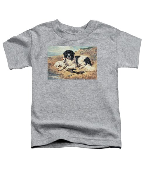 Dogs Watching Bathers Toddler T-Shirt