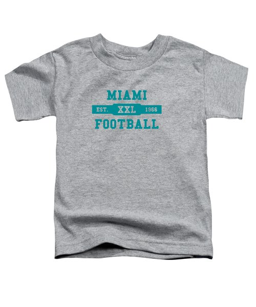 Dolphins Retro Shirt Toddler T-Shirt by Joe Hamilton