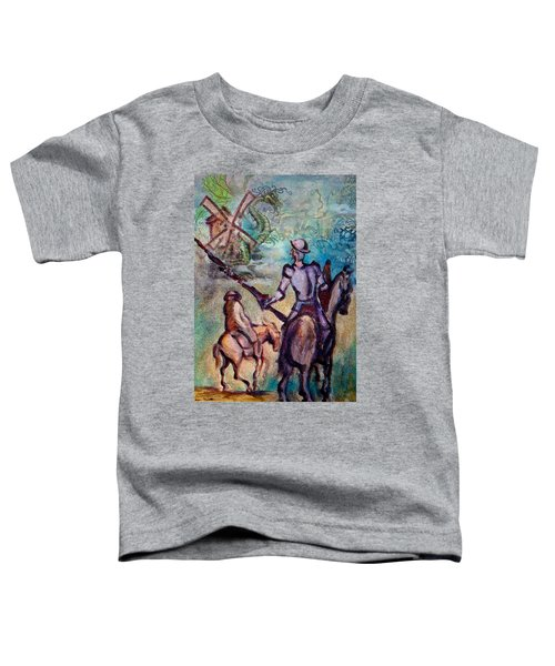 Don Quixote With Dragon Toddler T-Shirt