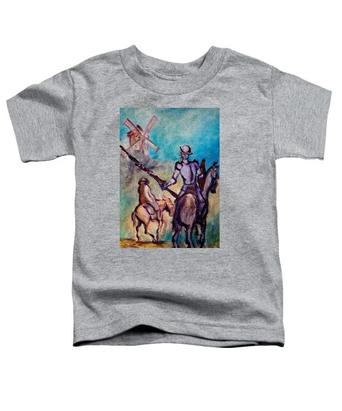 Don Quixote With Windmill Toddler T-Shirt