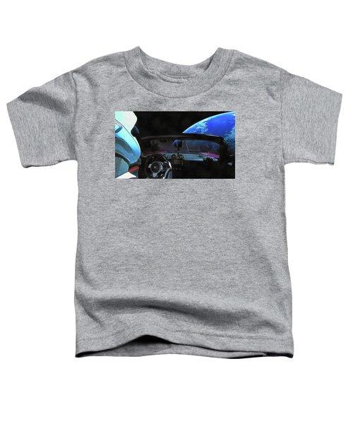 Dont Panic - Tesla In Space Toddler T-Shirt