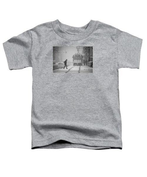 Downtown Snow Storm Toddler T-Shirt