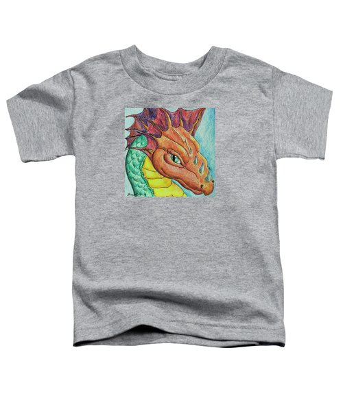 Toddler T-Shirt featuring the drawing Dragon Portrait by Yulia Kazansky