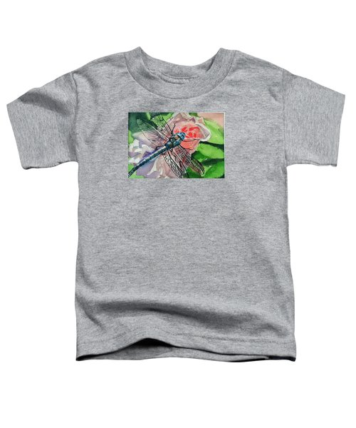 Dragonfly On Rose Toddler T-Shirt