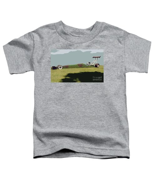 Dragster Flower Bed Toddler T-Shirt
