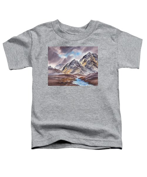 Dramatic Landscape With Mountains Toddler T-Shirt