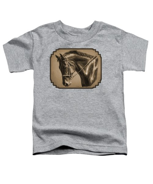 Dressage Horse Sepia Phone Case Toddler T-Shirt