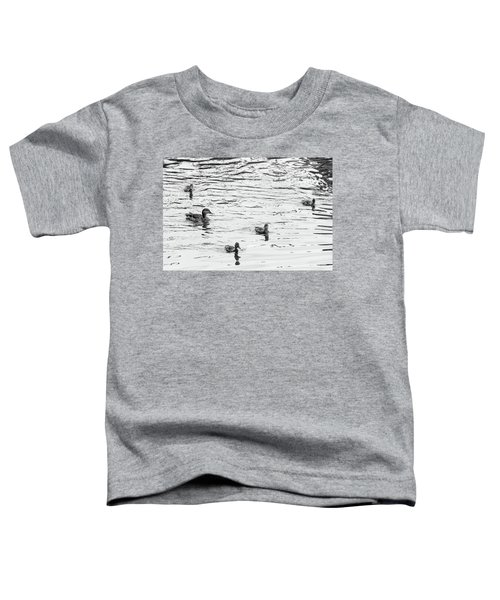 Duck And Ducklings Toddler T-Shirt