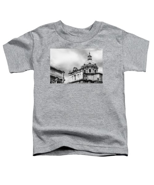 Duomo Of Santi Luca E Martina And Arch Of Septimius Severus  Toddler T-Shirt