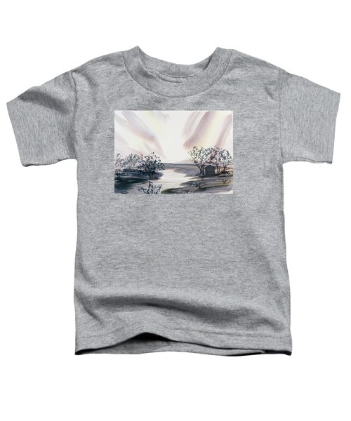 Dusk Creeping Up The River Toddler T-Shirt