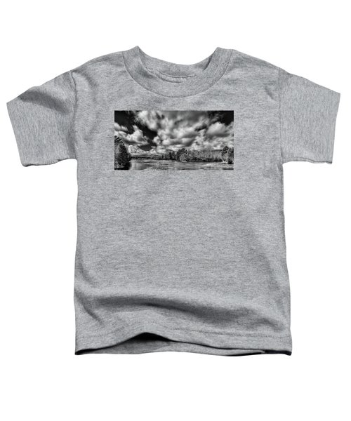Toddler T-Shirt featuring the photograph Dusting Of Snow On The River by David Patterson