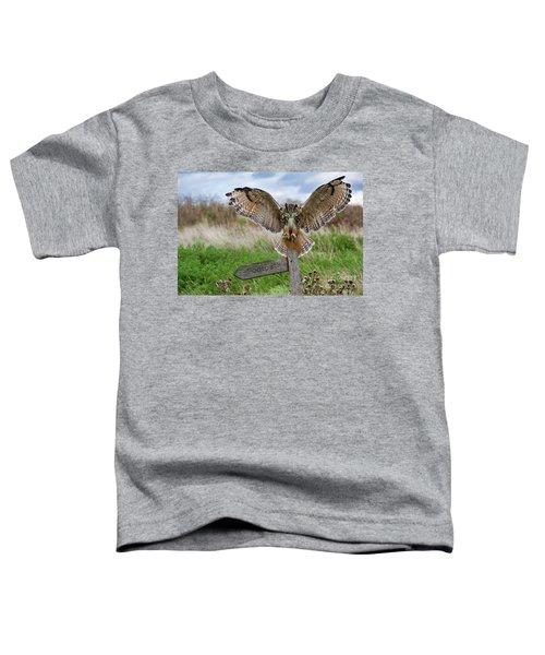 Eagle Owl On Signpost Toddler T-Shirt