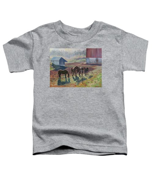 Early December At The Farm Toddler T-Shirt