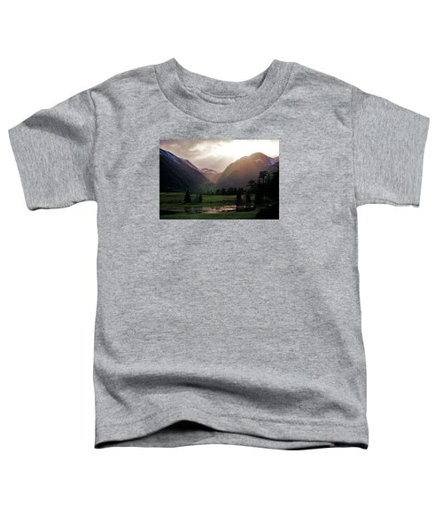 Early Evening Light In The Valley Toddler T-Shirt