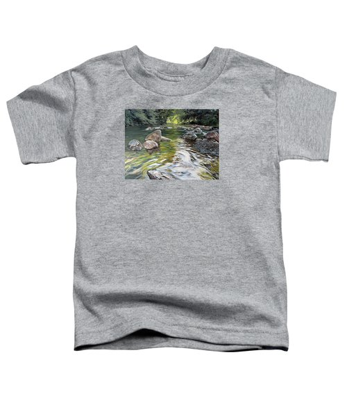 Toddler T-Shirt featuring the painting East Okement River by Lawrence Dyer