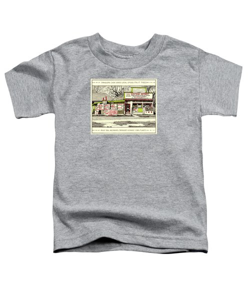 Toddler T-Shirt featuring the painting Eastside Market by Chholing Taha